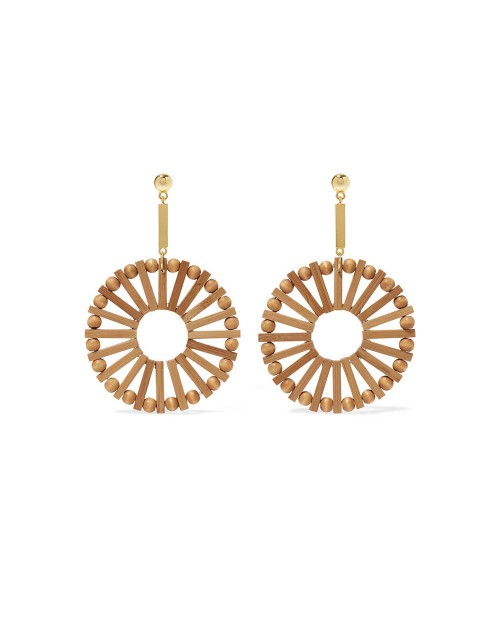 508 Gold and Bamboo Earrings